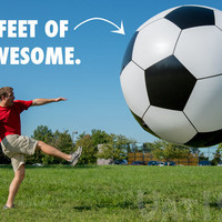 Giant Inflatable Soccer Ball: 6 feet in diameter!