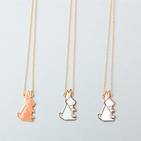 Origami Rabbit Necklace by Hug A Porcupine
