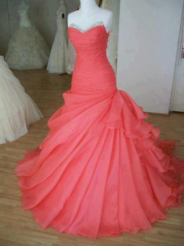 Glamorous Ball Gown Sweetheart Sweep Train Prom Dress