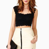 Faithfull Lace Crop Top