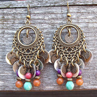 Gypsy Woman Dance Chandelier Earrings