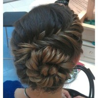 Real Girls, Real Hair: Beautiful Braids Real Girls, Real Hairfrench braid twist updo