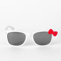 Kitty Kitty Bang Bang Sunglasses in White and Red :: tobi