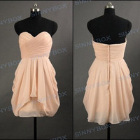 A line sweetheart evening dress, bridesmaid dresses, prom dress, evening gowns, custom made dress