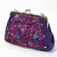 Unique Handbag Handmade Fabric with Recycled by BitsandPurses