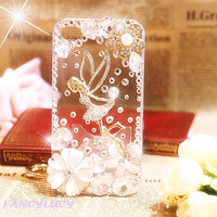 iPhone 4 Case, iPhone 5 Case, iPhone 5 Cover, iPhone 5 skin, Bling iphone 5 Case, Rhinestone Crystal iphone case, iphone 4 cover a Angel