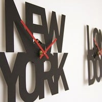 Typographic Time Zone Clock
