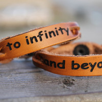 Bracelets To Infinity and Beyond by SixShooterLeather on Etsy