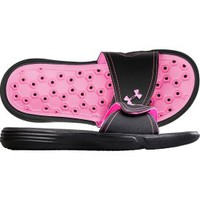 Under Armour Women's Playmaker Slide - Black/Pink | DICK'S Sporting Goods