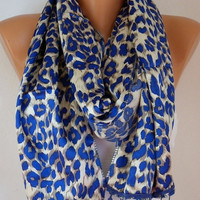 Leopard  Women  Shawl Scarf  Headband Necklace Cowl by fatwoman/90474888/