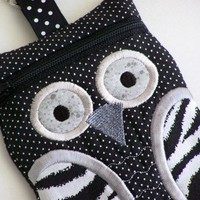 Zebra Owl Cell Phone Case Gadget Case iPod Case iPhone Case