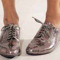 Pewter cut out brogue [Jec8938]