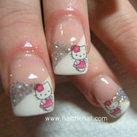 Hello Kitty Nail Art Water Transfer Decal