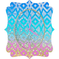 DENY Designs Home Accessories | Lisa Argyropoulos Shades Quatrefoil Clock