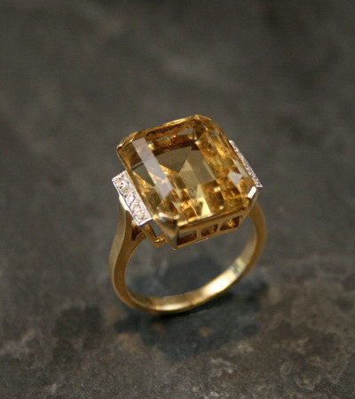 vintage citrine cocktail ring from rubygrays