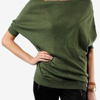 BB Dakota Aiken Cable Knit Cocoon Sweater :: tobi