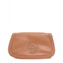 Tory Burch Amanda Logo Clutch in Aged Vachetta