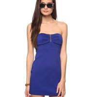 Zippered Sweetheart Dress | FOREVER21 - 2000034281