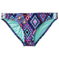 Xhilaration Juniors Hipster Swim Bottom in Geometric Print -Blue/Teal/Orange