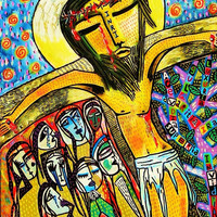 Jesus Crucifixion & The Latin Tree of Sins by SandraSilberzweigArt