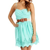 Mint Strapless Sundress