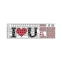 Funkeyboard Designer Keyboard Sticker - I Love You