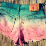Vintage Levi's Denim High Waisted Ombre Shorts / by UnraveledClothing