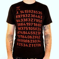 Pi Math Geek TShirt American Apparel Black by darkcycleclothing