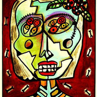 Day of The Dead Frida Zombie  SILBERZWEIG by SandraSilberzweigArt