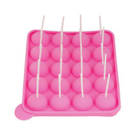 Silicone Tray Cake 25 Sticks Pops Mould Cupcake Baking Mold Party Kitchen Tools