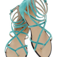 Crossing Waters Sandal in Aqua | Mod Retro Vintage Sandals | ModCloth.com
