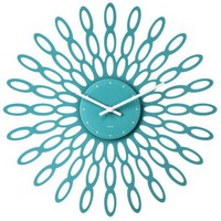 Threshold™ Modern Sunburst Wall Clock Teal