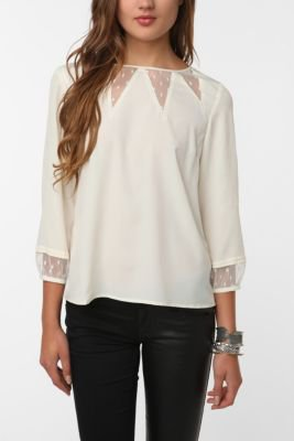 Pins and Needles Mesh-Inset Blouse