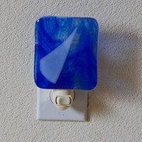 Fused glass art nightlight by eyeseesage on Etsy