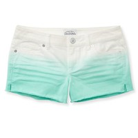 Colored Gradient Denim Shorty Shorts