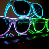 3 Light up sunglasses rave glasses diffraction by MoxieGlares