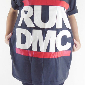 RUN DMC T-Shirt - King of Rock Rap Hip Hop Shirt Rock Tee Shirt Black Tee Shirt Unisex T-Shirt Women T-Shirt Men T-Shirt Size L