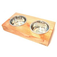 GO!PETDESIGN Urban Driftwood Dog Bowl