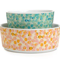 Waggo Spotty Dotty Ceramic Dog Bowl