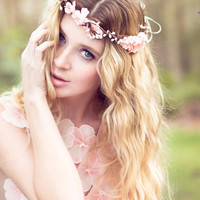 wedding headpiece, flower crown, bridal headband, wedding headband, bridal headpiece, wedding accessories, cherry blossom flower crown