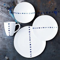 Blue Splatter Dinnerware Set | west elm