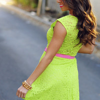 Free To Flirt Dress: Lime Green | Hope's