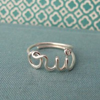 oui ring in sterling silver by Laladesignstudio on Etsy