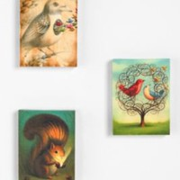 Chris Buzelli Mystical Woodland Creatures Wall Art - Set of 3
