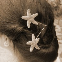 Starfish Bobby Pins Starfish Hair Accessories Mermaid Hair Accessories Nautical Accessories Cute Adorable Elegant Romantic Whimsical Dreamy