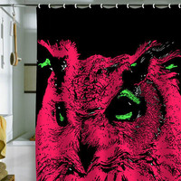 Romi Vega Pink Owl Shower Curtain