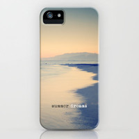 Pink sunset. Summer beach iPhone Case by Guido Montas