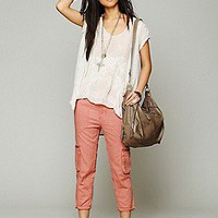 Free People  Linen Utility Pant at Free People Clothing Boutique