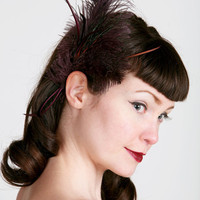 Adelle Vintage Glamour Feather Hair Clip by sweetlittlesparrow