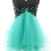 Dear4you  Fantastic Lace Ball Gown Sweetheart Mini Prom Dress